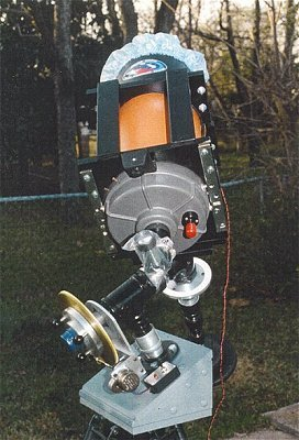 Celestron C-8 on Model 2 bushing mount with 9.0